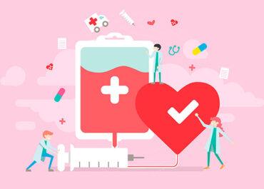 A importância da doação de sangue.